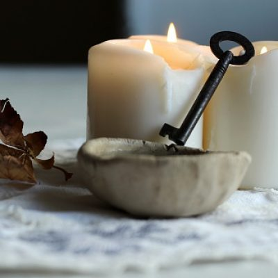 tradition polish wax (candle) divination on evening predictions on the eve of St. Andrew